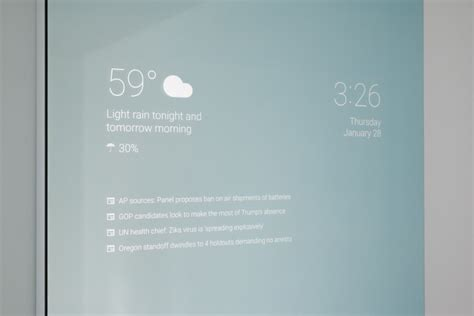 This home-made Smart Mirror that runs Google Now is the