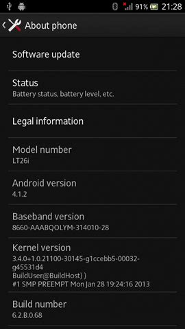[Download] Sony Xperia S LT26i Android 4