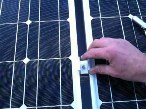 True Solar Time solar panel earthing and mid clamp video