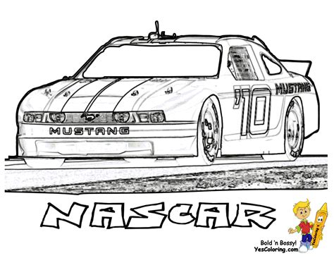 Full Force Race Car Coloring Pages | Free | NASCAR