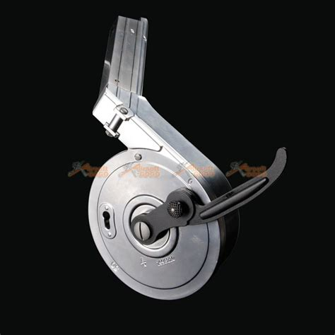 Metal 50rds Drum Magazine for WE P08 Airsoft GBB (Silver