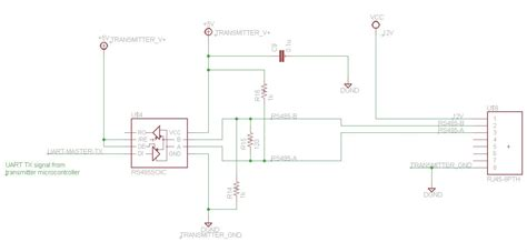 microcontroller - Powering SN75176 for RS485/UART