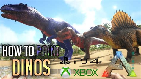 ARK PS4 HOW TO PAINT DINOS - ADMIN COMMANDS - PS4 / XBOX