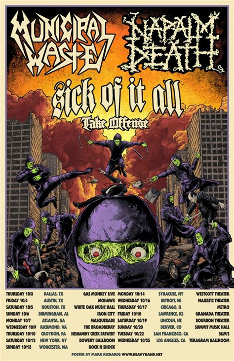 Municipal Waste and Napalm Death Announce Fall 2019 US
