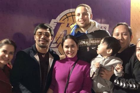 LOOK: Pacquiao and family meet Steph Curry after Warriors