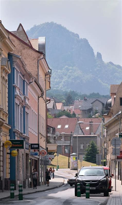 Bilina, Czech Republic - May 12, 2018: Cars And Historical