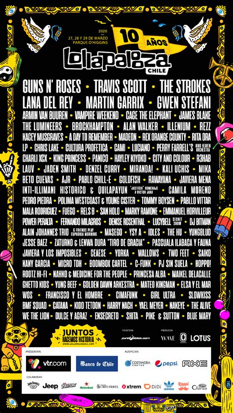 Lollapalooza Reveals 2020 Lineups for Brazil, Argentina