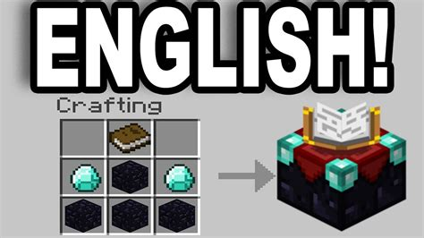 Minecraft: How To Change The Enchantment Table Language To