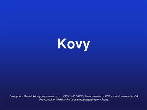 PPT - Kovy PowerPoint Presentation, free download - ID:5067505