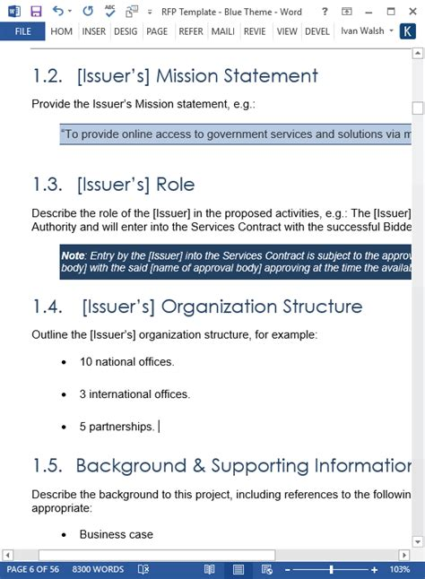 Request For Proposal (RFP) Template (MS Word/Excel