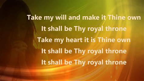 Take my life and let it be: Original Lyric Video HD by