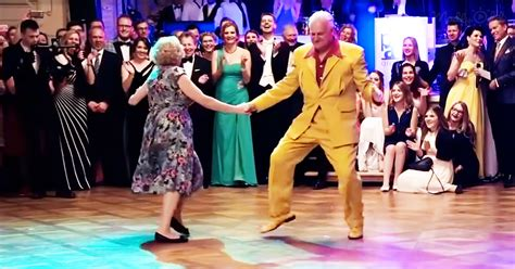 Senior Couple Steals The Show With Their Impressive Boogie