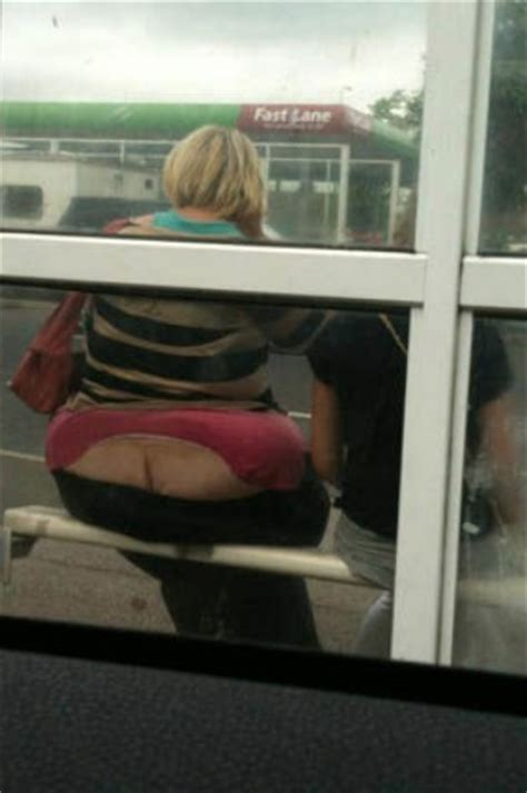 Bus Stop Butt Crack - Cracked Glass - Fail - Funny - Faxo